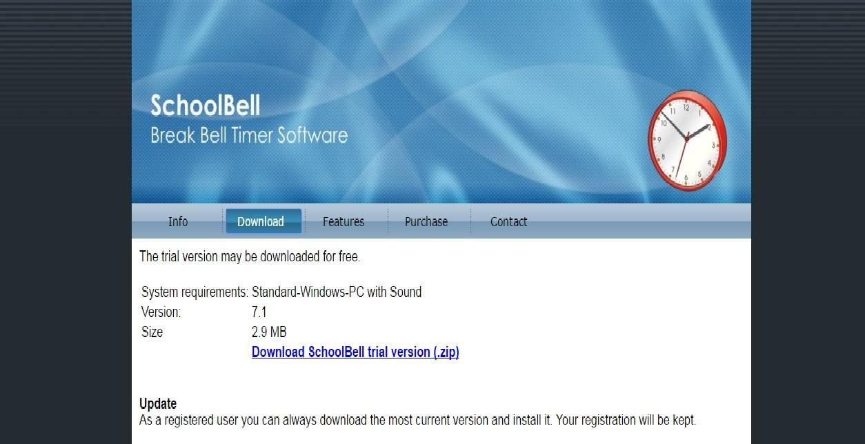 تفعيل برنامج SchoolBell