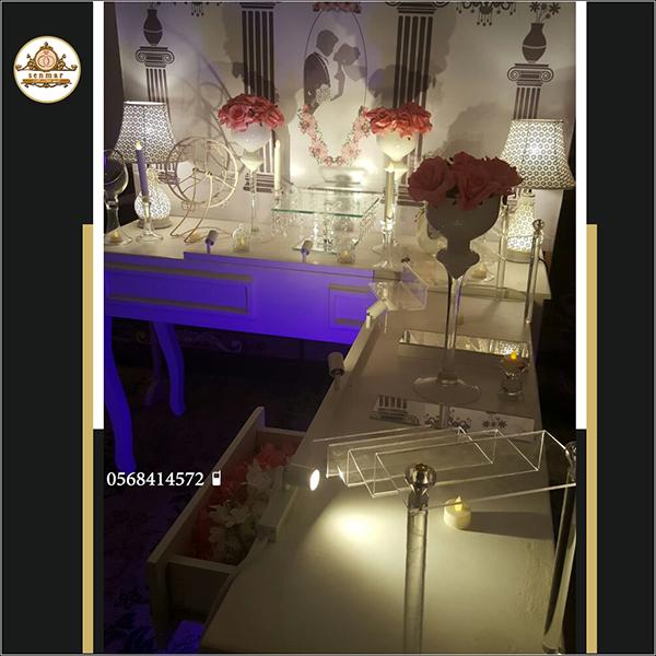 مداخل طاولات استقبال لضيافه( سنمار) ينبع افخم تنسيق طاولات مداخل حفلات