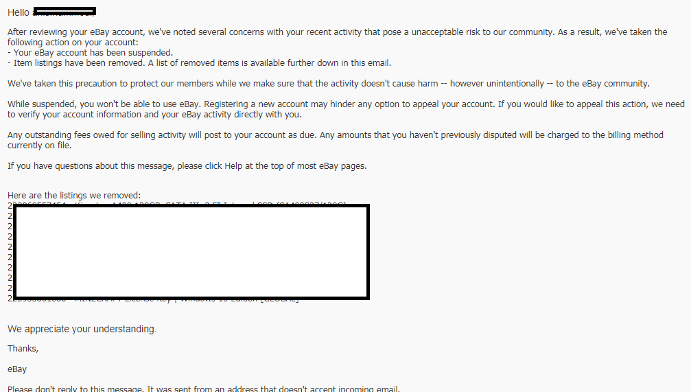 Your Ebay Account Has Been Suspended After Selling Ebay Suspended Paypal Limited Forums