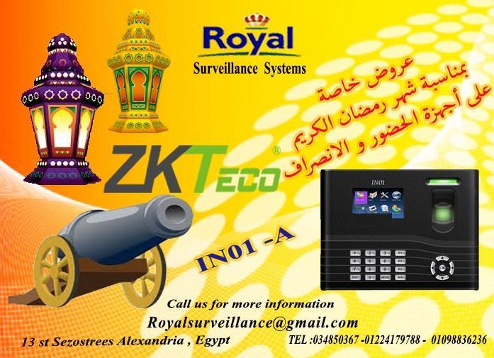 بمناسبة شهر رمضان الكريم أجهزة حضور وانصراف ماركة ZKTECOموديل IN01-A 383996348