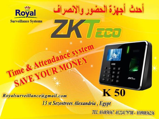 أجهزة حضور وانصراف ماركة ZK Teco  موديل K50  780402683