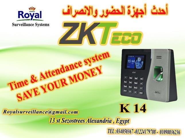 أجهزة  حضور وانصراف ماركة ZK Teco  موديل K14 853208672